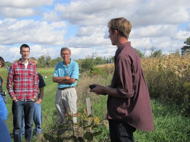 Farmer holding organic blue corn
